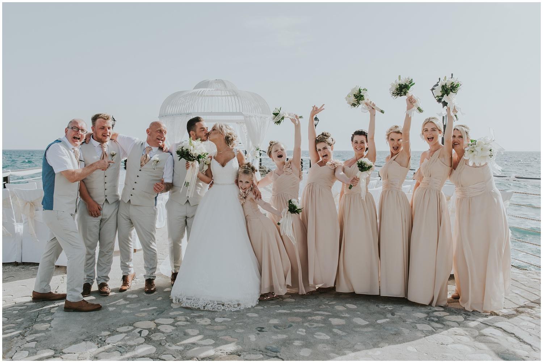 elias beach wedding party