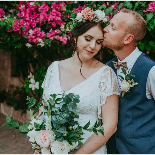 Jess & Tom - A beautiful boho wedding at Vasilias Nikoklis Inn
