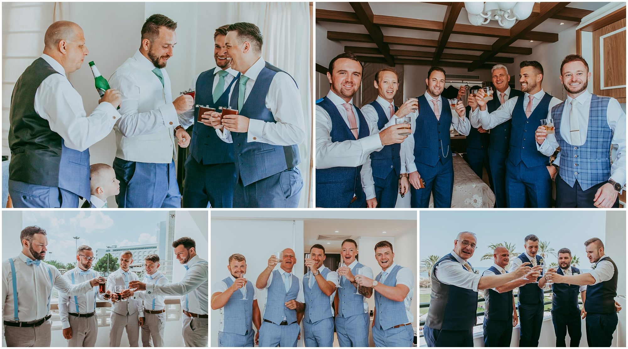 groom cheers