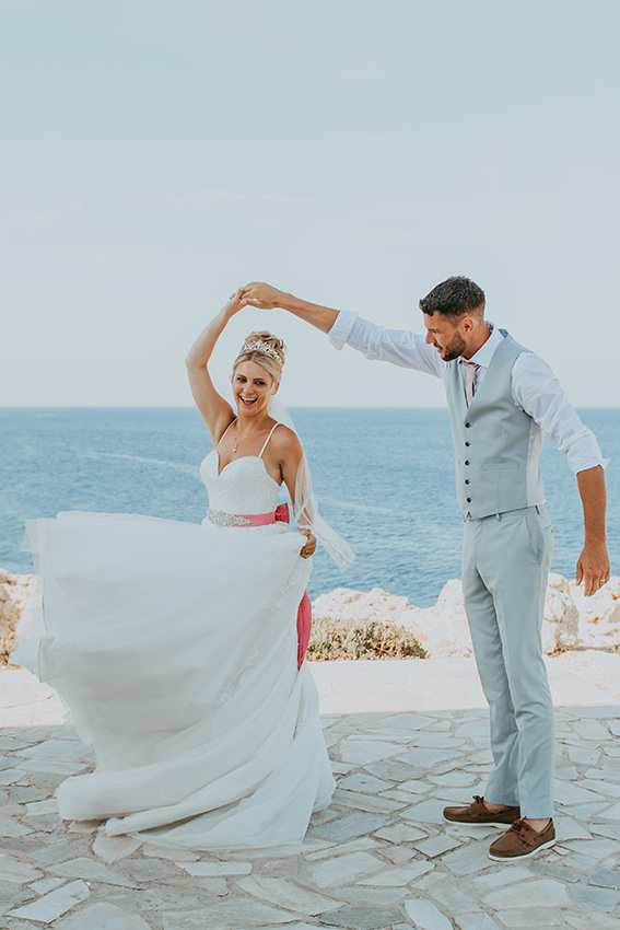 twirling cyprus bride