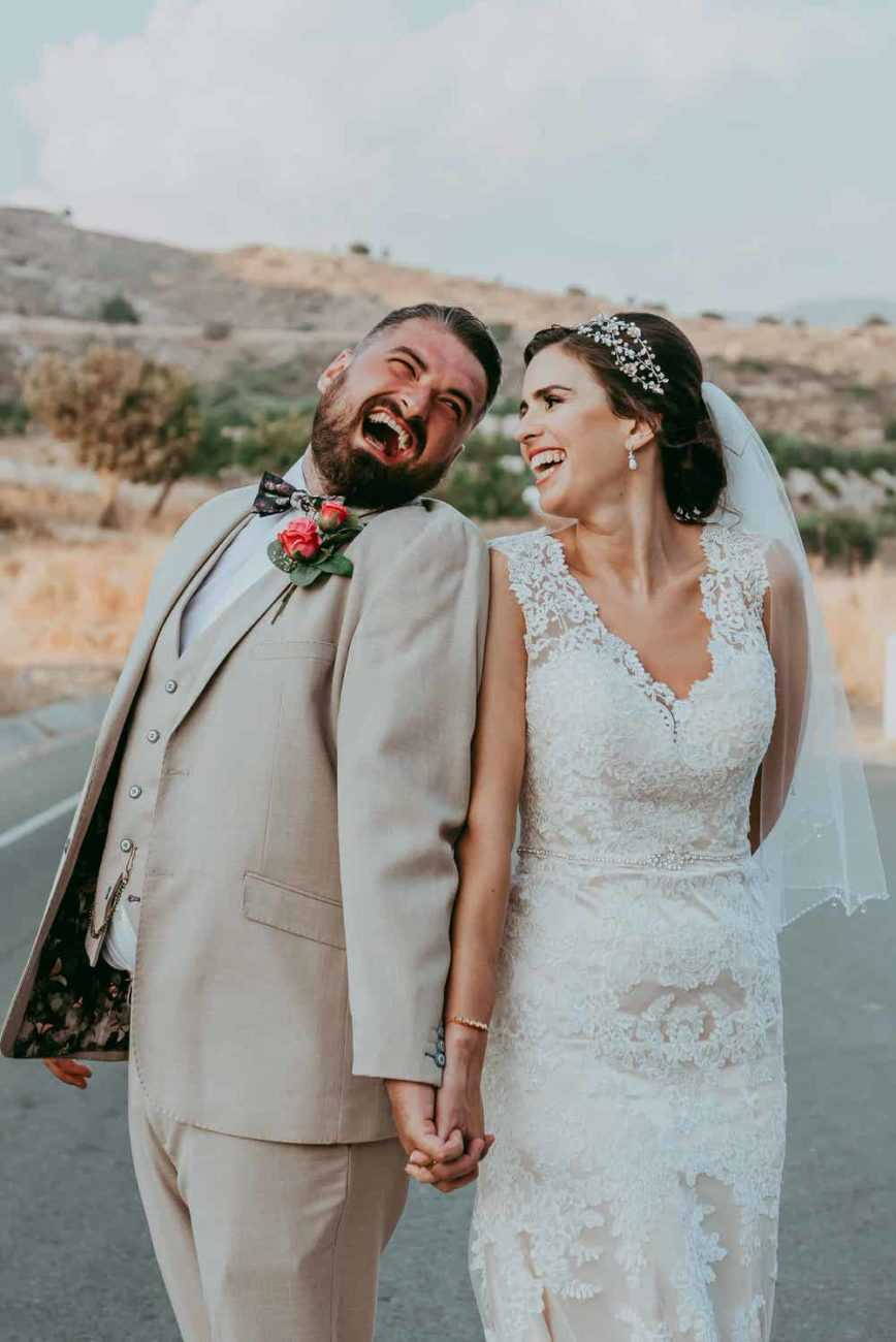 Cyprus bride and groom